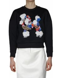 3.1 Phillip Lim Techno Jersey Sweatshirt with Embroidery - Lyst