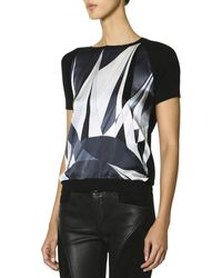 Emilio Pucci Short Sleeve Printed Front Top - Lyst