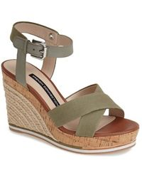 French Connection 'Lata' Ankle Strap Wedge Espadrille Sandal - Lyst