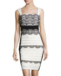 Jax Lace Tiered Pleated Cocktail Dress - Lyst
