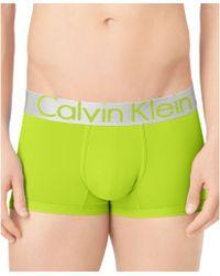 Calvin Klein Mens Steel Microfiber Low Rise Trunks - Lyst