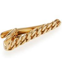 Lanvin Gold Curb Chain Tie Bar - Lyst