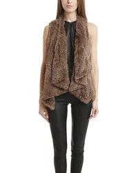 H Brand Audra Rabbit Fur Vest - Lyst