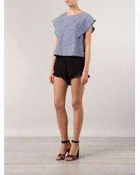Sam & Lavi - Ruffled Mini Shorts - Lyst