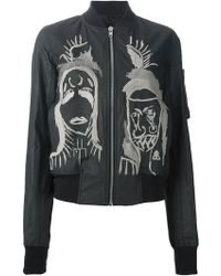 Rick Owens Embroidered Bomber Jacket - Lyst