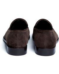 Artigiano - Suede Tassel Loafers - Lyst