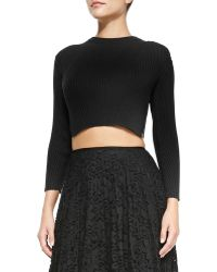 Theory Kamboe Ribbed Knit Crop Top - Lyst