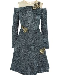Erdem Leola Embellished Matelassé Dress - Lyst