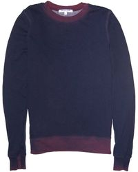Cotton Citizen Zipped Crewneck Sweatshirt blue - Lyst