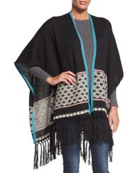 Figue - Madga Open-front Fringe Shawl - Lyst