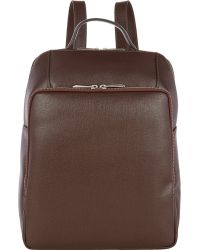 Barneys New York Saffiano Backpack - Lyst