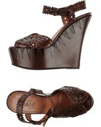 Alaïa Brown Sandals - Lyst