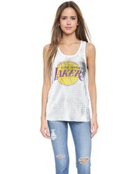 Love Leather - Lakers Slam Dunk Tank - White - Lyst