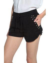 Pam & Gela Roll Up Shorts black - Lyst