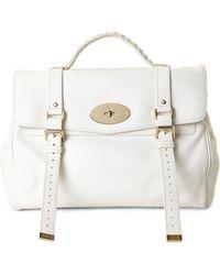 Mulberry Cream Oversized Alexa Handbag - Lyst