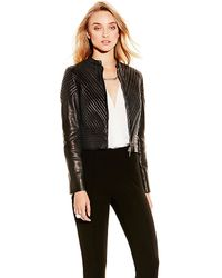 Vince Camuto Quilted Leather Jacket - Lyst