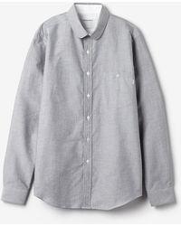 Patrik Ervell Standard Button Down Shirt gray - Lyst