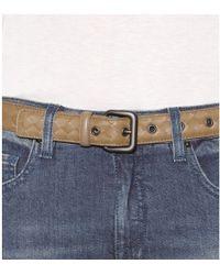 Bottega Veneta Intrecciato Leather Belt - Lyst