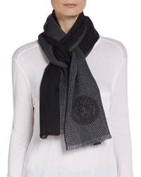 Versace Medusa Bicolored Wool Scarf - Lyst
