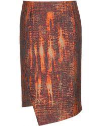 Stella McCartney Orange Crepe Skirt - Lyst