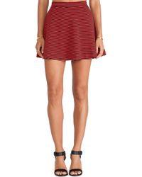 Splendid Belmont Stripe Skirt - Lyst