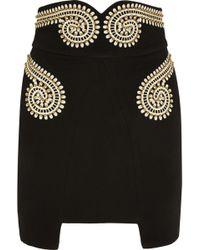 Sass & Bide The New End Embellished Crepe Mini Skirt - Lyst