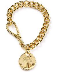 Ralph Lauren Equestrian Padlock Chain Bracelet - Lyst