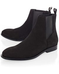 Balenciaga Black Suede Chelsea Boots - Lyst