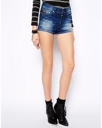 G-star Raw High Waist Short Denim Shorts - Lyst