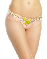 Roberto Cavalli Floral Print Coulotte Thong - Lyst