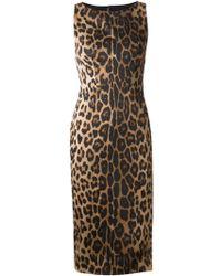 Altuzarra Shadow Leopard Dress animal - Lyst