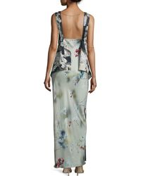 CALVIN KLEIN 205W39NYC - Sleeveless Paneled Floral-print Gown - Lyst