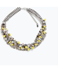 Zara Colored Bead Necklace - Lyst