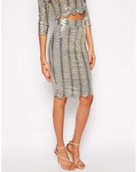 TFNC Skirt In Scallop Sequins - Lyst