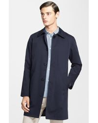 A.P.C. Water Repellent Cotton Gabardine Trench Coat - Lyst