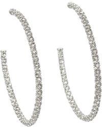 Juicy Couture Large Pave Hoop Earrings - Lyst