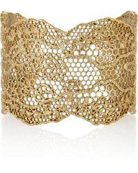 Aurelie Bidermann Vintage Lace Gold-plated Cuff - Lyst