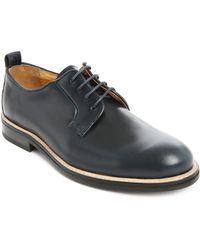 Carven Navy Low-top Lace-up Derby Shoes - Lyst