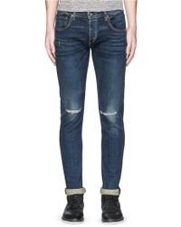Rag & Bone | Distressed Denim Jeans | Lyst