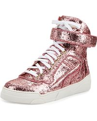 Givenchy Glitter High-Top Sneaker - Lyst