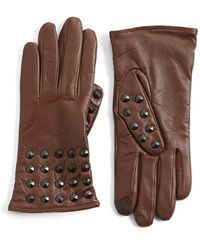Echo - 'touch - Studded' Leather Glove - Lyst