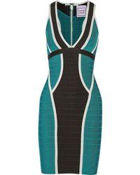 Hervé Léger Eyvette Bandage Mini Dress - Lyst
