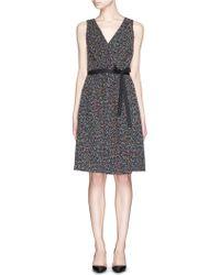 Diane von Furstenberg - 'seduction' Confetti Tweed Sleeveless Wrap Dress - Lyst