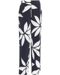 Issa Cerys Floral-Print Silk Trousers - Lyst