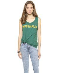 Textile Elizabeth And James Australia Dean Tank Greenmustard - Lyst
