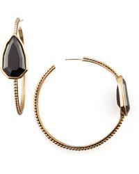 Stephen Dweck - Cathedral Hoop Earrings Black - Lyst