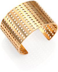 Kelly Wearstler Idealist Perforated Cuff Bracelet - Lyst