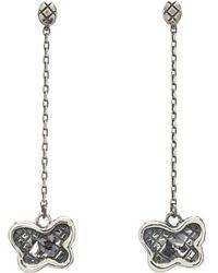 Bottega Veneta Silver Drop Earrings - Lyst