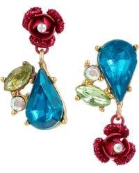 Betsey Johnson - Floral Cluster Earrings - Lyst