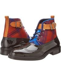 Vivienne Westwood Plaid Boot Brogue - Lyst